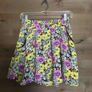 LEIFNOTES Anthro Tiny Floral Print Pocket Skirt
